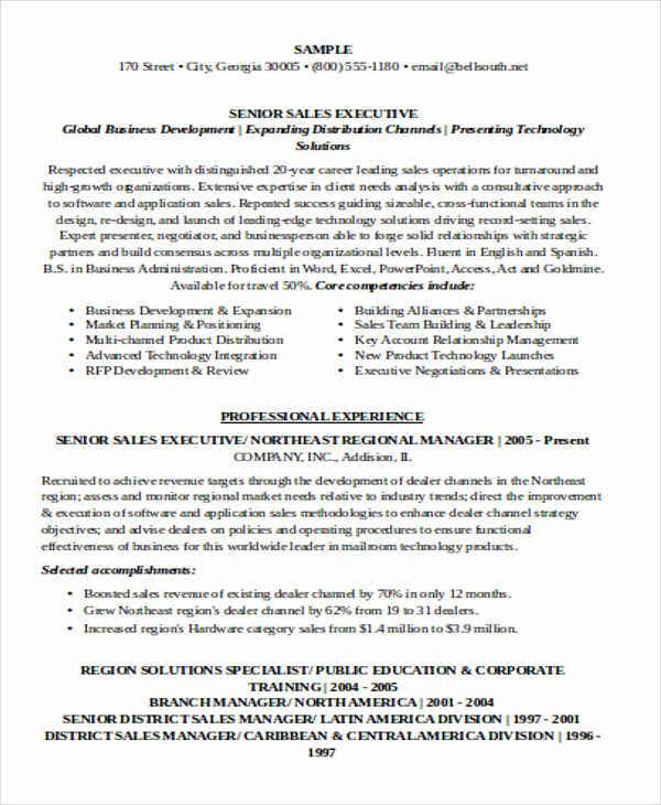 senior sales executive resume6