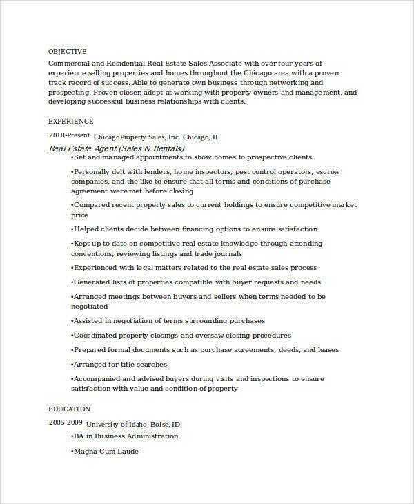 sle real estate resume 28 images realestate sales