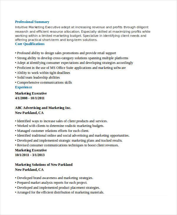 41 sales resume templates free premium templates