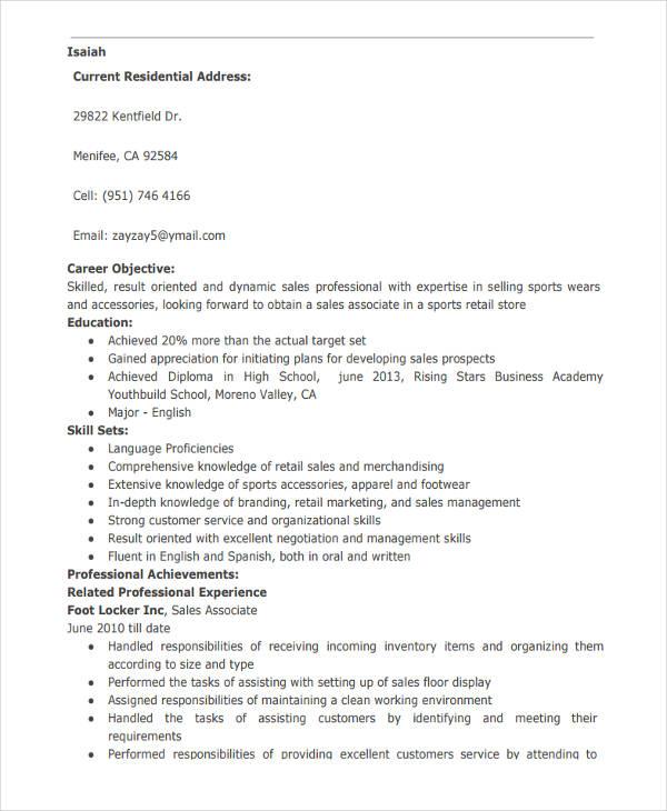retail sales associate resume3