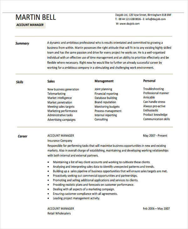 32  sales resume samples