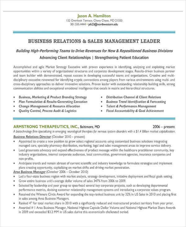 sales and marketing manager resume6