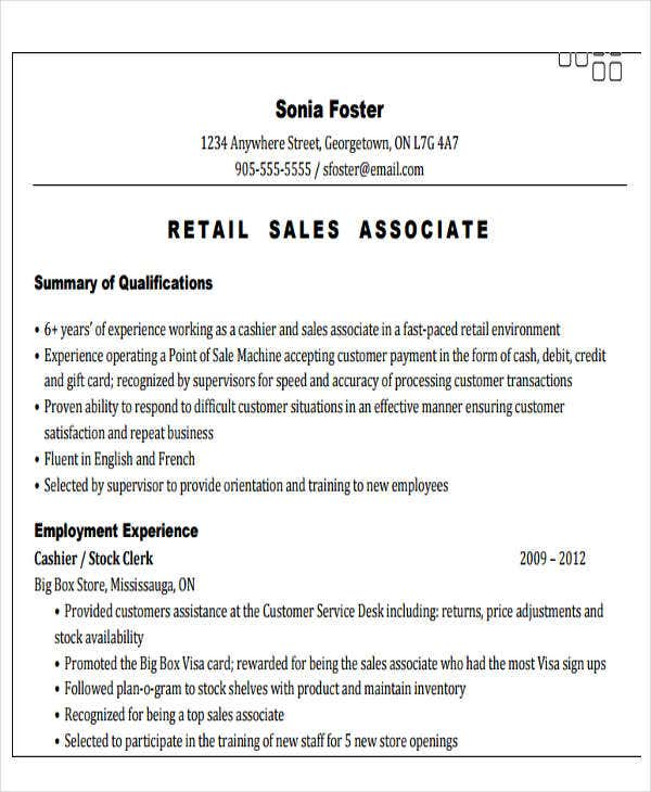 retail sales associate resume6