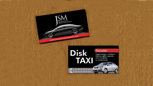 13  taxi business card templates