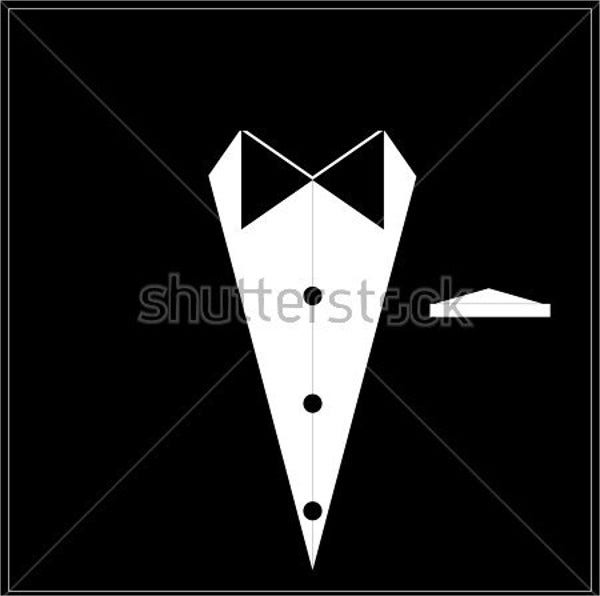 modern black tie wedding logo
