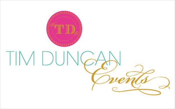 modern glam wedding logo