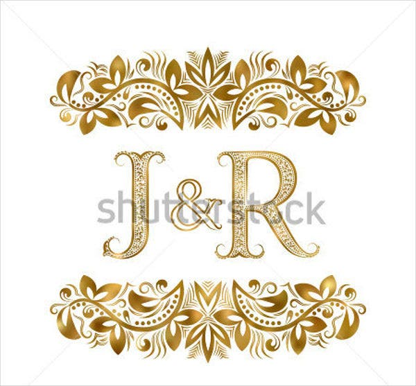 vintage golden wedding logo1