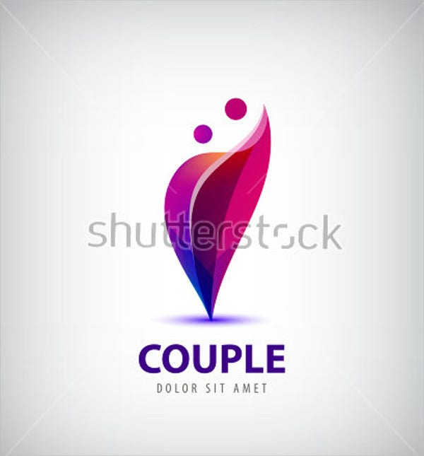 wedding friends card logo