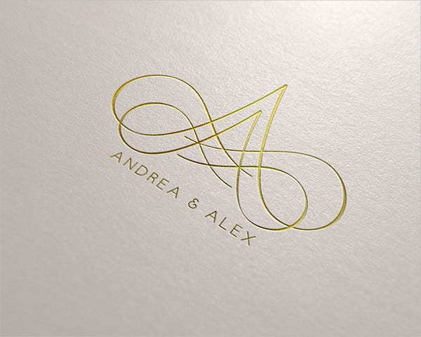 wedding greeting card logo