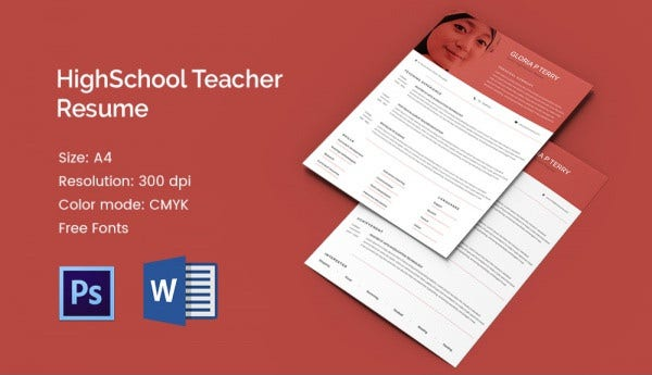 Sample One Page Teacher Resume