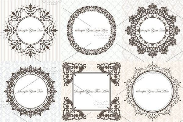luxury wedding lace logo