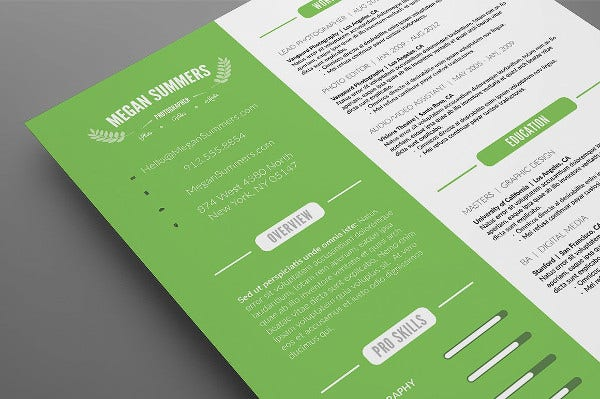 MBA One Page Resume Format