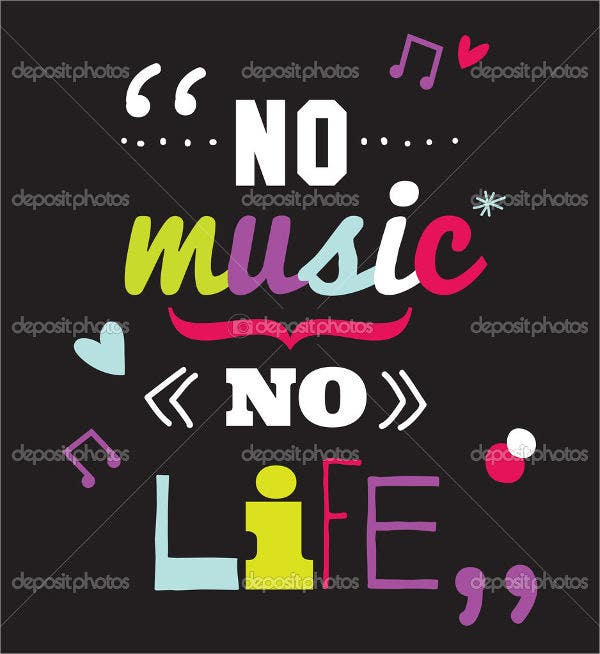 music and life quote poster