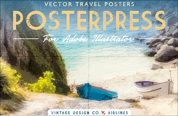 photoshop vintage travel poster