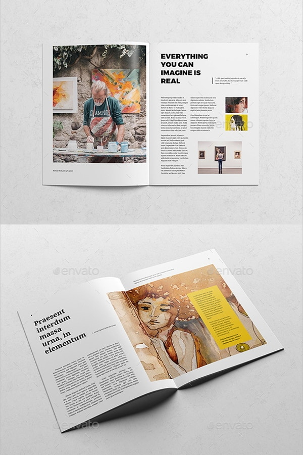 modern art magazine template 1