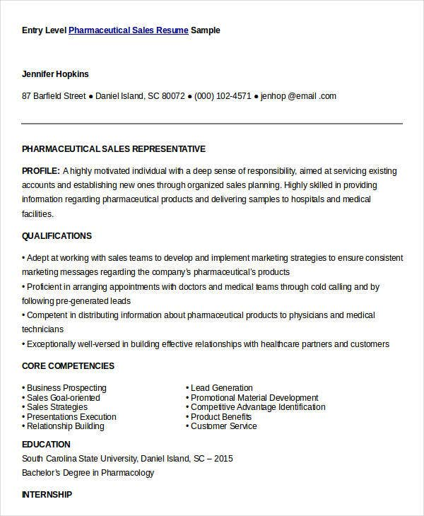 Sales Resume Template   Free Word Pdf Documents Download