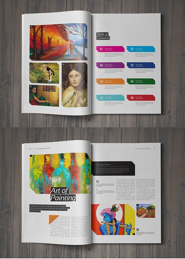 editable art magazine template
