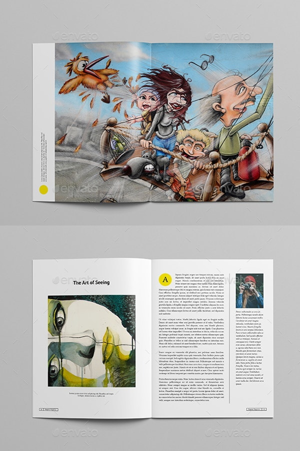 a4 art magazine template