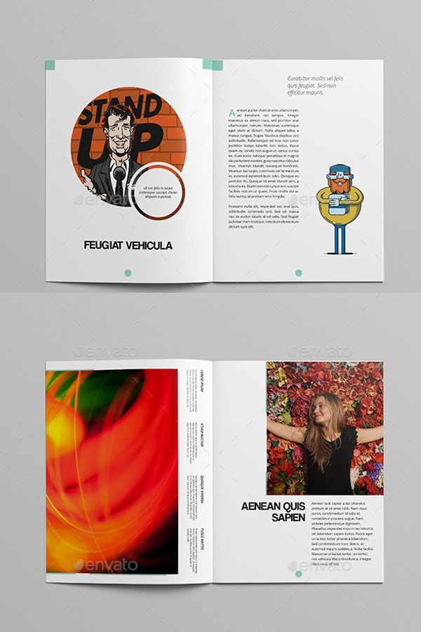multipurpose art magazine template