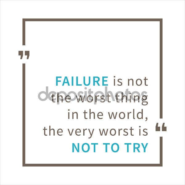 life failure quote poster