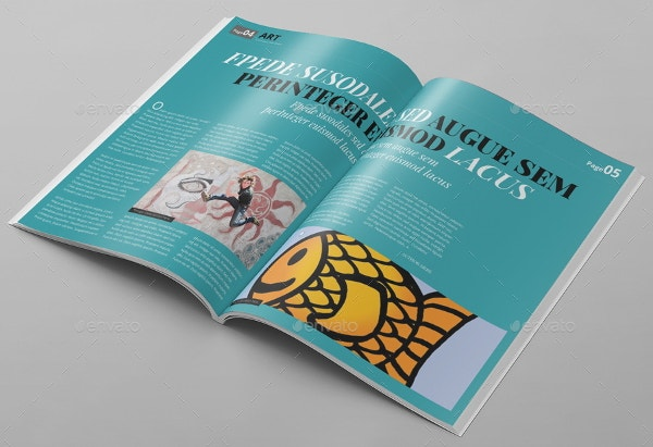 art magazine psd template
