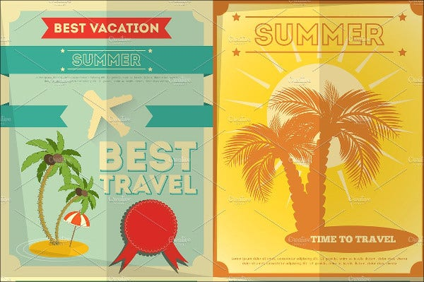 tour and travel poster vector