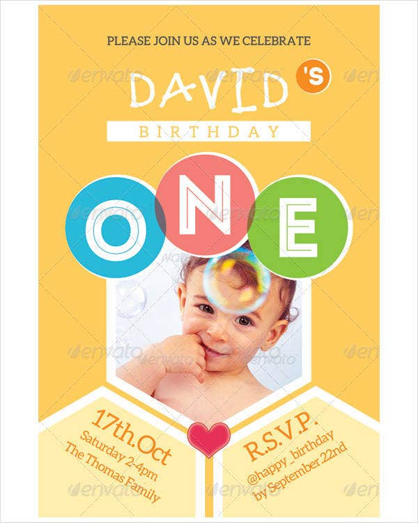 Kid's Birthday Ceremony Invitation