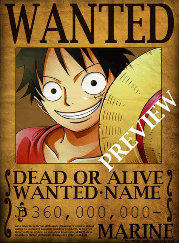 one-piece-vintage-wanted-poster