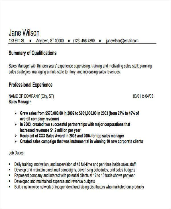 pharmaceutical sales manager resume1