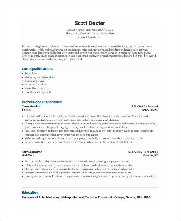 retail sales specialist resume2