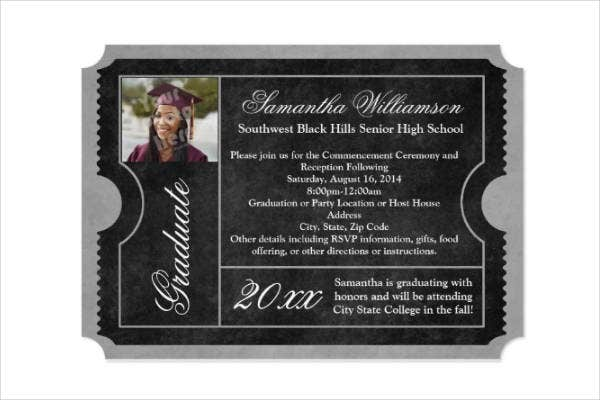 graduation ceremony ticket invitation
