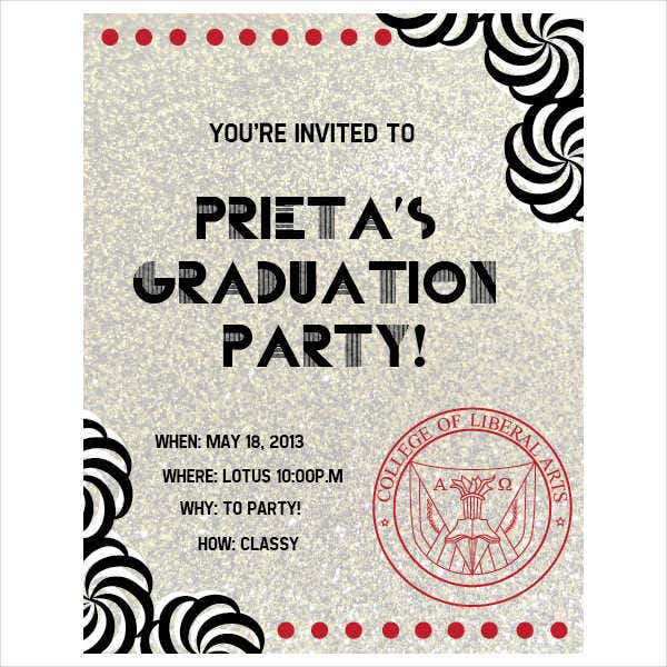 Graduation Ceremony Party Invitation