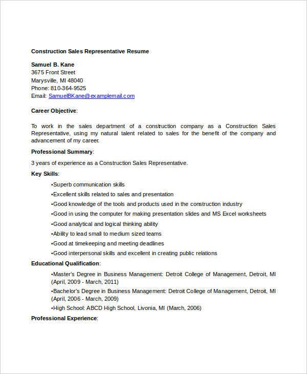 construction resume sles free 28 images skilled