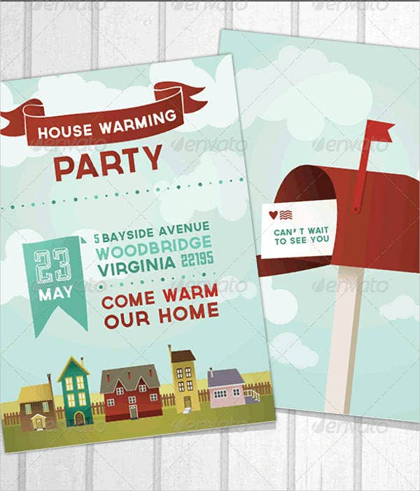 Housewarming Open House Ceremony Invitation