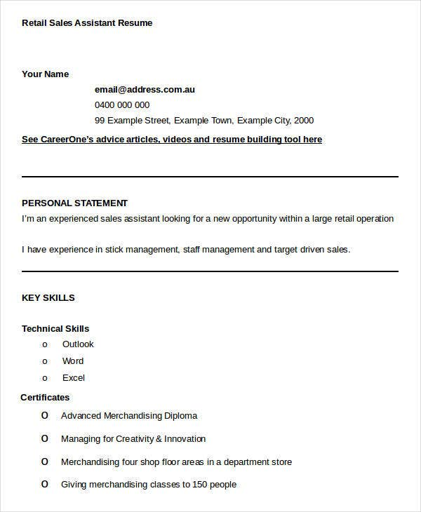 Sales Resume Template 25 Free Word Pdf Documents