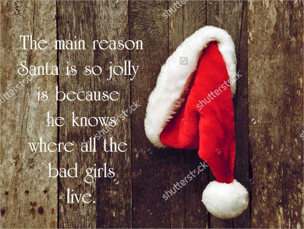 funny christmas quote poster