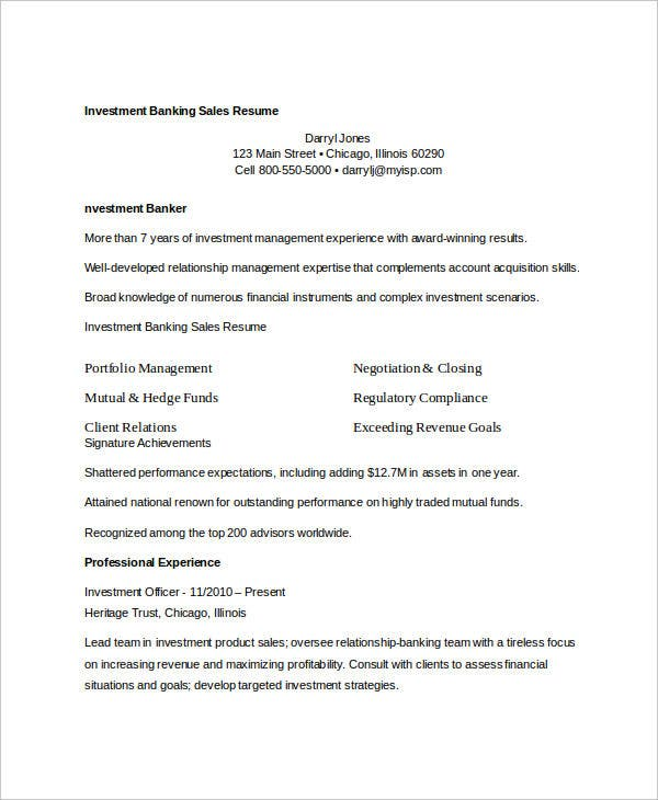 Free Sales Resume - 47+ Free Word, Pdf Documents Download | Free