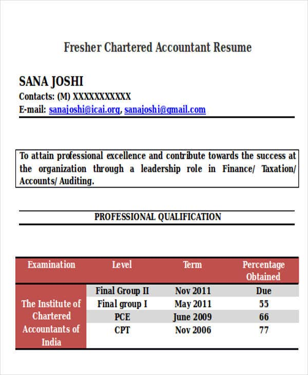 Fresher-Chartered-Accountant-Resume Targeted Resume Sample Doc on targeted resume education, targeted cv samples, cover letter samples, targeted resume template word, types of resumes samples, targeted resume for customer service associate, targeted resume examples for horticulture, targeted case manager resume, targeted resume style, curriculum vitae samples,