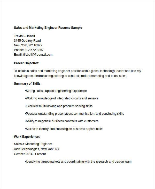 sales and marketing resume sales manager resume regional sales