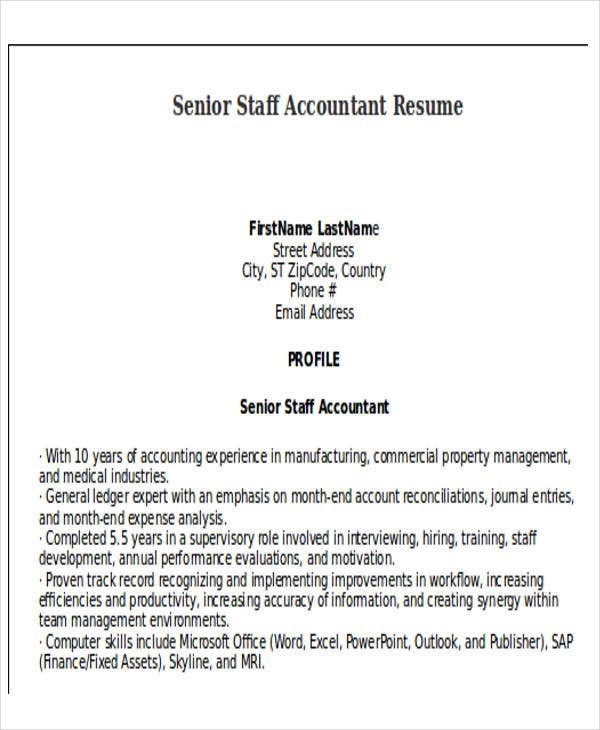 senior staff accountant resume4