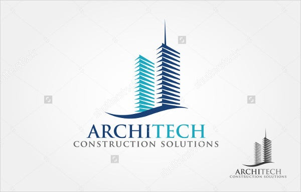 real estate construction company logo