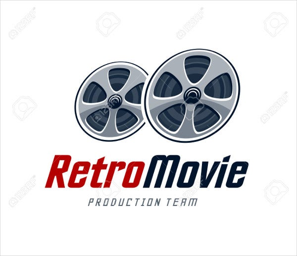 retro production company logo