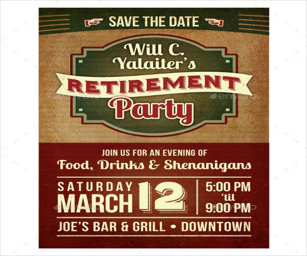 retirement party ceremony invitation