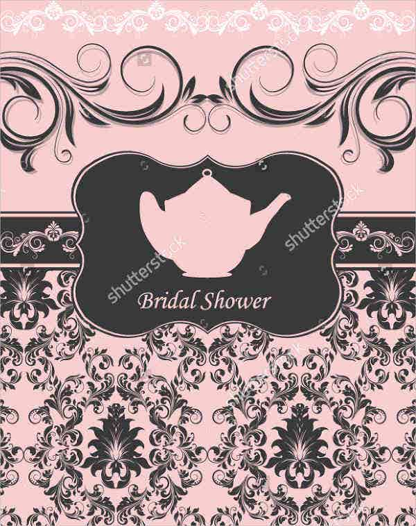 tea bridal shower ceremony invitation