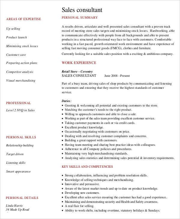Free Sales Resume 47 Free Word PDF Documents Download Free Premium Templates