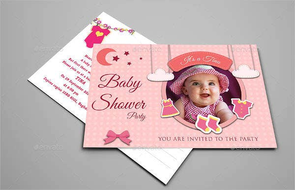 baby shower girl ceremony invitation