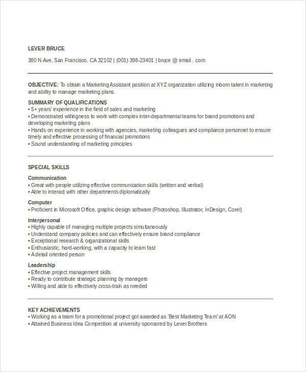 Resume Writing Orange County Word Marketing Resume Templates In Word   Free Word Documents  Sample Resume And Cover Letter with Service Manager Resume Marketingexecutiveassistantresume Nursing Resume Template Free Word