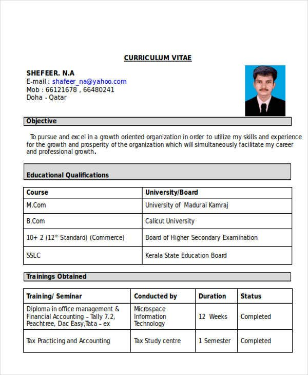 fresher accountant resume format4