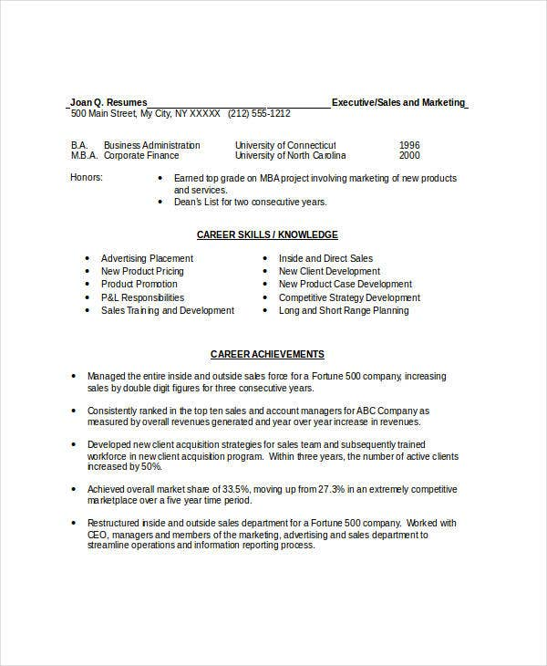 marketing resume templates in word 22 free word