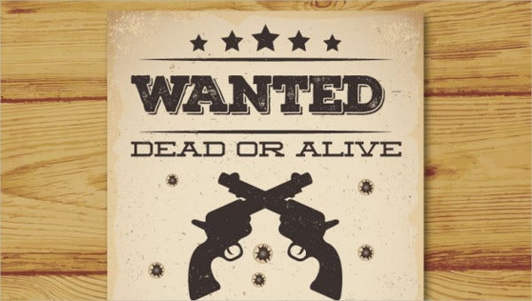 wanted poster psd